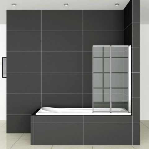 800x1400mm 2-Fold Folding Shower Bath Screen Door Panel